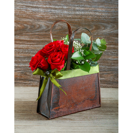 Red Roses in Bag