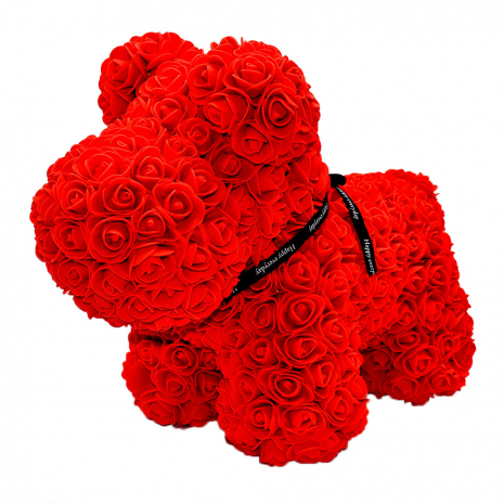 Red Rose Dog 40cm