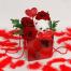 Τριαντάφυλλα, Λούτρινο & Τροπικά Φυλλώματα σε Τσάντα - VAL 11032
