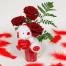 Τριαντάφυλλα σε Κούπα με Λούτρινο Αρκουδάκι - VAL 11007