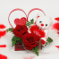 Roses and Bear-toys in the hart - VAL 11041