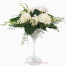 SPECIAL white floral arrangement with flowers in glass- ENG 13003