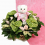 Mix flowers in a basket with toys  - BIRTH 16010