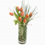 Tulips and Grass in a vaze  - GLASS 18040