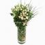 Μπουκέτο με Τριαντάφυλλα και Γκράς - MOM 17013