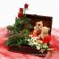 Λούτρινα με Τριανταφυλλα, Άγριες Ορχιδέες και Φυλλώματα - VAL 001181