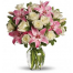 Bouquet of roses and lilies in a vase -  ΜΠΟΥ 072246