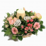 floral arrangement of flowers Roses and Gerberas in a basket - XRI 0284