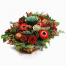 floral arrangement of flowers  in a basket - XMAS 44013