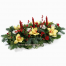 floral arrangement of flowers in a basket - XRI 0287