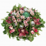 floral arrangement of flowers Orchis and Roses  in a basket - XMAS 44021