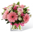 Floral arrangement with mix flowers - GLASS 18004