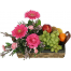 fruit basket and flowers - BEV 40009