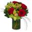 Μιξ Λουλούδια σε Γυάλινη Βάση - GIA 0254