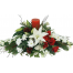 Christmas composition with roses, Casablanca and tropical foliage - XRI 021023