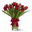 Bright red tulips in a vase -  ΒΑΖ 072250