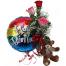Roses + Balloon + Teddy - BIR 0254
