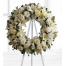 Wreath with roses, lilies and chrysanthemums - COND 39050