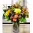 Μπουκέτο με Ολόφρεσκα Μιξ Λουλούδια Μαζί με το Βάζο - ΜΠΟΥ 07290