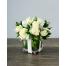 White Roses in Glass