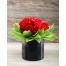 Red Roses in holder