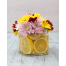 Mix Chrysanthemum with Lemon slices in Glass
