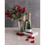 Bouquet with Champagne in wine cooler