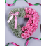 Heart with Pink Roses and Gypsophila