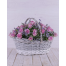 Basket with Pink Roses