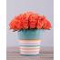 Flowerpot with Orange Roses