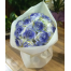 15 White and blue coloured roses